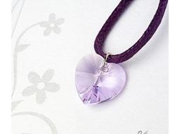 swarovski colgante violeta